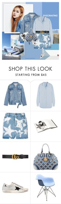 """""""Shades of blue"""" by rainie-minnie ❤ liked on Polyvore featuring Folio, Steve J & Yoni P, Acne Studios, Givenchy, Gucci, Louis Vuitton and Golden Goose"""