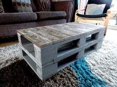 Table basse palette rustique industriel par RebornFurnitureShop