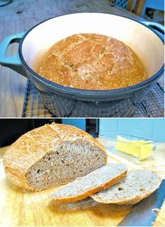 Lazy bread: no kneading, no shaping but still a good flavour.