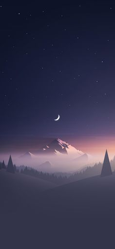 Stars And Moon Winter Mountain Landscape phone Wallpapers Best Android Phone, Android Phone Wallpaper, Phone Wallpapers, Mountain Landscape, Landscape Design, Winter Mountain, Landscape Wallpaper, Wallpaper Downloads, Stars And Moon