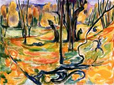 Edvard Munch, Elm Forest in Autumn