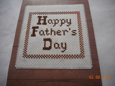 father's day card, cross stitch card