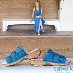 #Comingsoon to ClogsAndShoes.com: SoftWalk and #GreysAnatomy, comfortable shoes that take you from work to play. Shown here are the Barts #sandals. #casual #womensfashion #womensshoes #scrublife #nurse #nurselife #nursing #clogs #shoes #fashionblogger #fashion #fashioninspiration #bosslady #bossbabe #cuteshoes #hairdresser #cook #waitress #instafollow #instagood #outfit #ootd #outfitoftheday #regram #spring #springfashion #blue