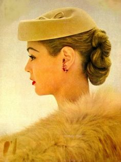 Jean Patchett | vintage 1950s hat + hair | 50s beauty