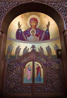 Sanctum Sanctorum, Sacred Architecture, Church Interior, Religious Icons, Christian Church, Holy Family, Blessed Mother, Catholic, Orthodox Christianity