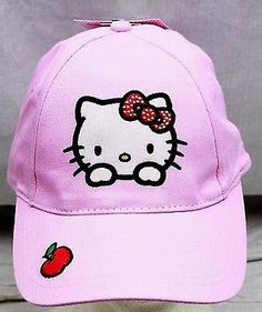 Sanrio Hello Kitty with Apple Embroidered Adjustable Baseball Cap Hat-New! 9ee2e8dac97b