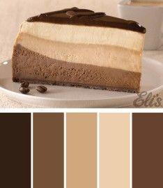 Eli's Chocolate Espresso Cheesecake.  #ColorScheme