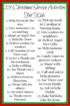 25 Christmas Service Activities for advent. Some of these I never would have thought of!