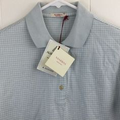Marbas Men's XS S Petra Polo Shirt Geo Print Mercerised Cotton Made in Italy New #Marbas #PoloRugby