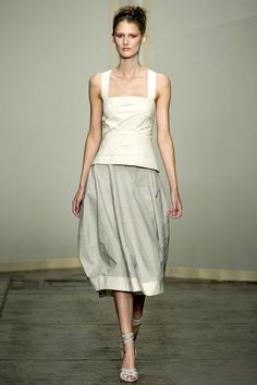 Last one from Donna Karan Spring 2013 RTW. So simple and beautifully structured.