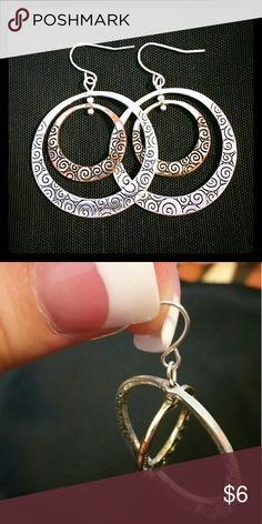 Earings Hoop in a hoop. Smaller hoop spins. Jewelry Earrings