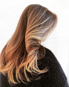 Warm winter color, color melt hair, balayage, rose gold hair, so pretty! Stylist: Tyler Ray