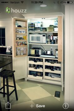 Must have appliance closet one day