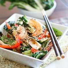 Shrimp and Baby Bok Choy Stirfry