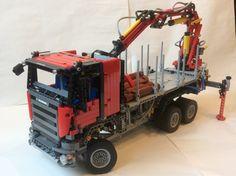 LEGO Ideas - Lego RC Pneumatic Scania Logging Truck