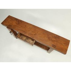 French Antique French Woodworker's Bench or Sofa Table For Sale - Image 3 of 10