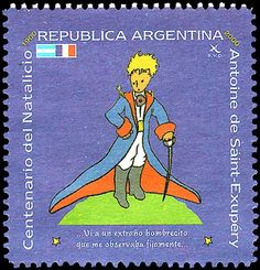 2000 Postage Stamp from Argentina - Antoine de Saint-Exupéry - The Little Prince