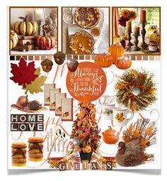 """""""Thanksgiving Decor"""" by sweetdee55 ❤ liked on Polyvore featuring interior, interiors, interior design, thuis, home decor, interior decorating, Pier 1 Imports, PTM Images, Jim Marvin en Homewear"""