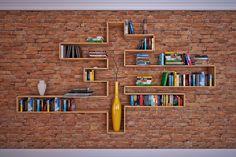 Prateleira criativa. Crie o formato que mais combina com a sua casa!