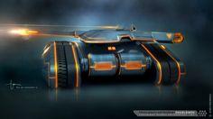Tron Legacy - Light Tank - Daniel Simon Tron Art, Tron Uprising, Syd Mead, Light Cycle, Tron Legacy, Tank Design, Transportation Design, Armored Vehicles, War Machine