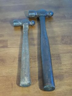 Vintage Ball Peen Hammers Wooden Handle by RevivedTraditions, $25.00