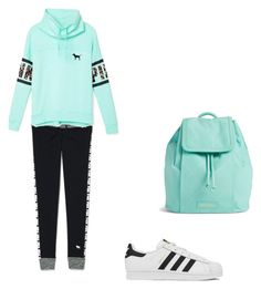 """Untitled #146"" by aandreead ❤ liked on Polyvore featuring Victoria's Secret, adidas and Vera Bradley"
