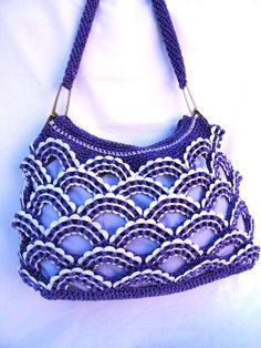 Hey, I found this really awesome Etsy listing at http://www.etsy.com/listing/127737908/light-purple-and-white-crochet-purse-eco