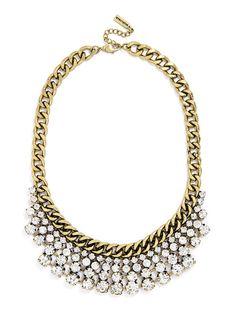 Crystal Pheasant Bib Necklace | BaubleBar
