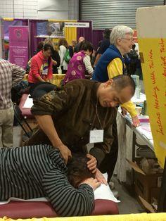 Dr Wu doing Tui Na.