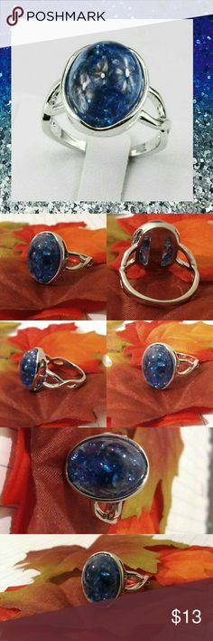 🆕Gorgeous Blue Amber Gemstone Silver Fashion Ring Blue tone Amber Gemstone 925 Sterling Silver plated Fashion Ring Handmade Available sizes 8 & 10  ✓Brand New ✓ High quality ✓What u see is what u get ⚜ Offers Welcome ♡Buy with confidence♡ ♡♡ Posh Ambassador ♡♡  ♡ After 3yrs long distance relationship, my sweetie popped the question on 5-21-2017 during my visit. We r raising the $ ourselves 4 Visa fees, airfare n finally our wedding Plz Follow n share to help us reach our goal ♡Thank u♡…