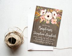 Hey, I found this really awesome Etsy listing at https://www.etsy.com/au/listing/250336258/baptism-invitation-printable-floral-girl
