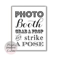 Printable Photo Booth Prop Sign Wedding New Years Eve INSTANT DOWNLOAD Photobooth 8x10 DIY