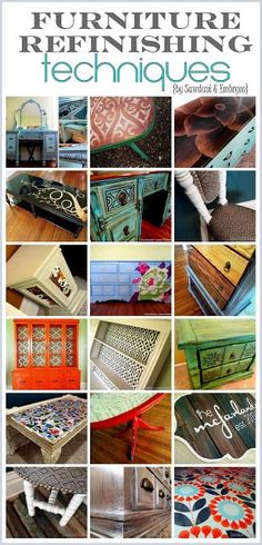 EXCELLENT Resource for all things related to Furniture Re-do's! Tons of tips and ideas! {Reality Daydream}
