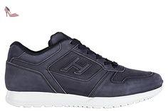 Hogan chaussures baskets sneakers homme en cuir h321 foratura blu EU 43 HXM3210Y120LNDU806 - Chaussures hogan (*Partner-Link)