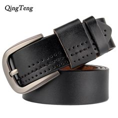 ddb29543fc Vintage Genuine Leather Pin Buckle Belt For Men. Available Colors - Black  and Coffee
