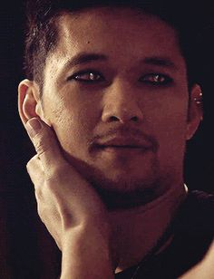 "malecwings: ""Magnus slowly blinking his eyes, while looking at Alec with adoration… he is so in love, it hurts. """