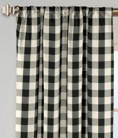 Inspirational Gray Plaid Curtains