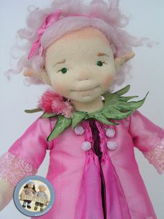 Fairy - natural fiber art doll by Lalinda.pl