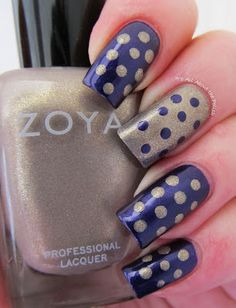 Dot Accent Nails