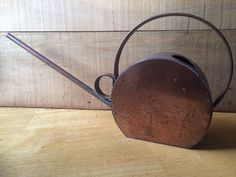 Vintage Art Deco Watering Can Copper Spout, Mint Condition Water Stains, Gardening Supplies, Watering Can, Conditioner, Art Deco, Copper, Mint, Canning, Vintage Art