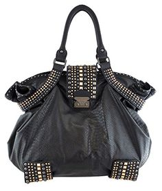 Christian Audigier Top Handle Handbag CHEMAC1008-BLACK List Price: $350.00 Buy New: $49.99