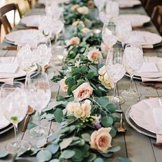 """A table full of pretty and a heart full of flutter. A lovely bridal lunch right…"