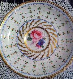 Hand painted tea plate#wedding#vintageenglisteacup#vintagechina