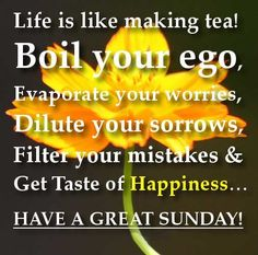 Funny, inspirational and blessed Sunday Quotes and Sayings with pictures for a happy Sunday. Beautiful images with happy Sunday morning quotes for you. Blessed Sunday Quotes, Sunday Morning Quotes, Happy Sunday Morning, Sunday Wishes, Happy Weekend, Tea Quotes, Happy Quotes, Funny Quotes, Life Quotes