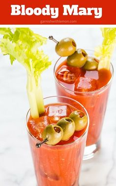 A fabulous Bloody Mary Recipe made from scratch. Perfect for tailgating and Sunday Brunch. ~ http://www.garnishwithlemon.com