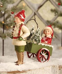 Shelley B Home and Holiday - Bethany Lowe Giddy Up Christmas Figure, $33.99 (http://shelleybhomeandholiday.com/bethany-lowe-giddy-up-christmas-figure/)