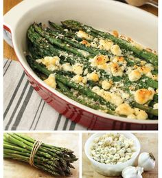 "For Recipe: CLICK on PIC and when taken to 2nd pic click again..Asparagus and Gorgonzola Gratin...  ...Recipe by George Stella... ...For tons more Low Carb recipes visit us at ""Low Carbing Among Friends"" on Facebook"