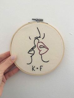 Personalizada besos romántico del bastidor / del aro del