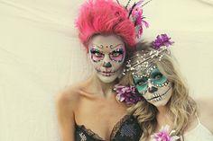 Halloween makeup, sugar skull, www.sunkissedandmadeup.com