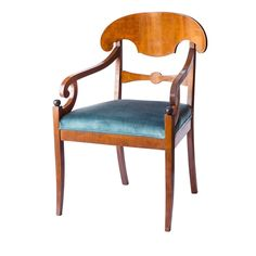 Set of Four Seats Biedermeier Berlino by Malvezzi   From a unique collection of antique and modern chairs at https://www.1stdibs.com/furniture/seating/chairs/